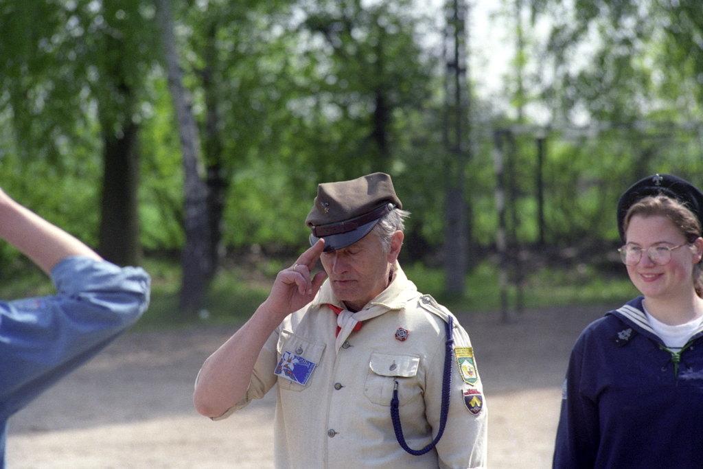 Janusz Boisse, Klaudia Olejniczak - Bieg harcerski 47 ŁWDH - 05.1996